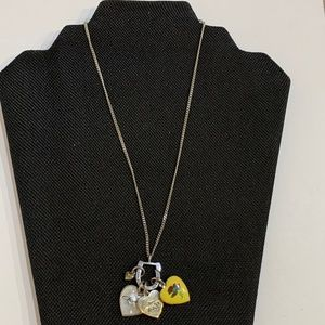 Juicy Couture Silver 4pc Charm Locket Necklace